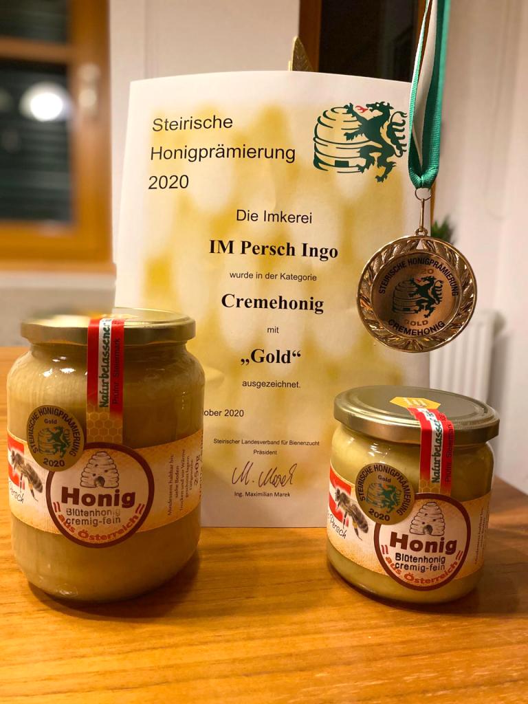 Honigprämierung 2020 - GOLD